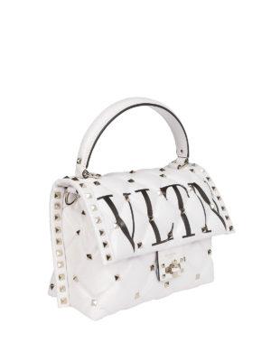 VALENTINO GARAVANI: borse a tracolla online - Tracolla matelassé VLTN Candystud
