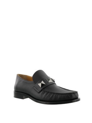 VALENTINO GARAVANI: Mocassini e slippers online - Mocassini in nappa con maxi borchie