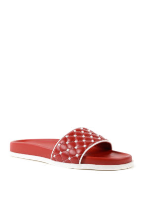 VALENTINO GARAVANI: sandali online - Sandali Free Rockstud Spike rossi