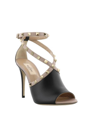 VALENTINO GARAVANI: sandali online - Sandali in pelle con borchie