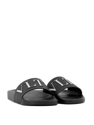 VALENTINO GARAVANI: sandali online - Sandali neri VLTN in gomma