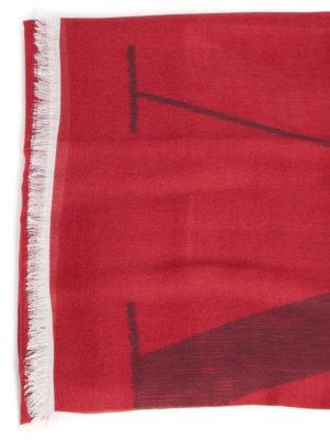 VALENTINO GARAVANI: sciarpe e foulard online - Sciarpa con stampa VLTN