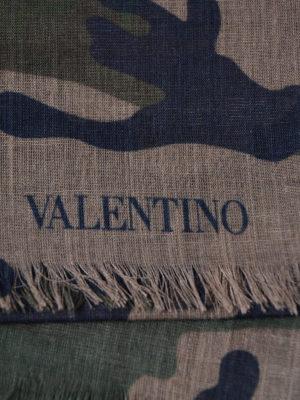 VALENTINO GARAVANI: sciarpe e foulard online - Sciarpa Zandra camouflage e verde