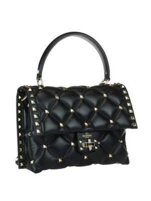 VALENTINO GARAVANI: borse a spalla online - Borsa Candystud in nappa nera
