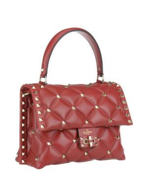 VALENTINO GARAVANI: borse a spalla online - Borsa Candystud in nappa rossa