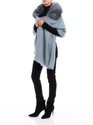 VALENTINO GARAVANI: Stole & Scialli online - Stola in cashmere con pelliccia
