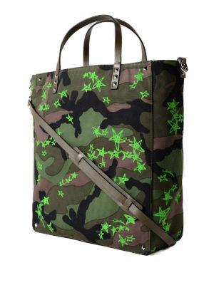 VALENTINO GARAVANI: shopper online - Shopper Zandra camouflage e verde