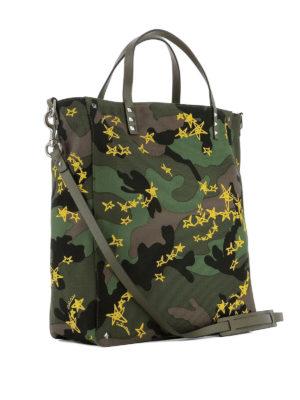 VALENTINO GARAVANI: shopper online - Shopper Zandra camouflage e giallo