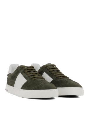 VALENTINO GARAVANI: sneakers online - Sneaker Flycrew in camoscio verde