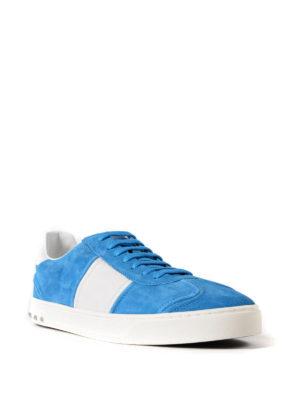 VALENTINO GARAVANI: sneakers online - Sneaker Flycrew in camoscio azzurro