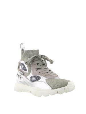 VALENTINO GARAVANI: sneakers online - Sneaker in maglia lurex e pelle