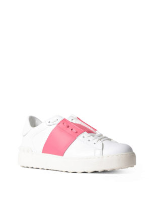 VALENTINO GARAVANI: sneakers online - Sneaker Open con banda rosa
