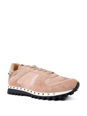 VALENTINO GARAVANI: sneakers online - Sneaker in suede rosa e nylon