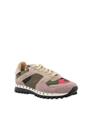 VALENTINO GARAVANI: sneakers online - Sneaker in nylon camouflage e suede