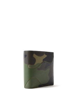 VALENTINO GARAVANI: portafogli online - Portafoglio camouflage verde