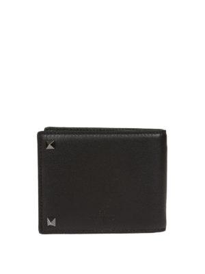 VALENTINO GARAVANI: portafogli online - Portafoglio bifold Rockstud nero