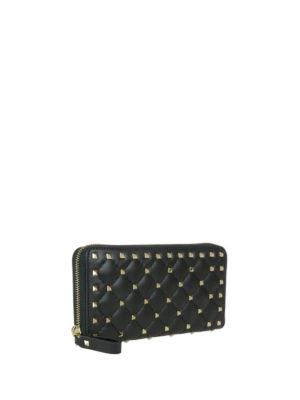 VALENTINO GARAVANI: portafogli online - Portafoglio Rockstud in pelle nera