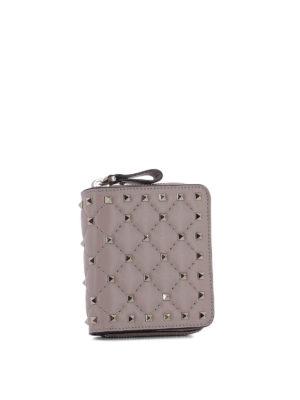 VALENTINO GARAVANI: portafogli online - Portafoglio con borchie in pelle