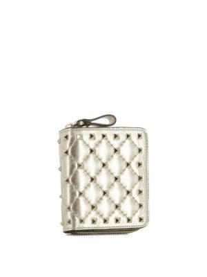 VALENTINO GARAVANI: portafogli online - Portafoglio in pelle con borchie