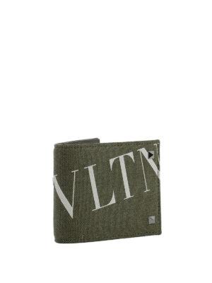 VALENTINO GARAVANI: portafogli online - Portafoglio in tessuto VLTN