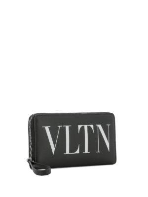 VALENTINO GARAVANI: portafogli online - Portafoglio in pelle con stampa VLTN