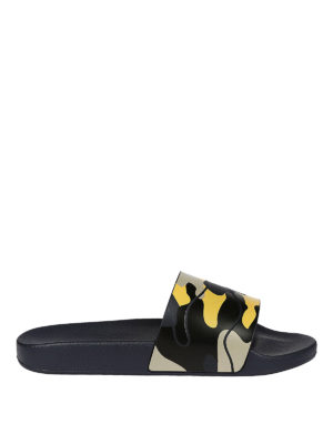 Valentino Garavani: sandals - Camu rubber slide sandals