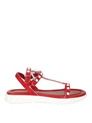VALENTINO GARAVANI: sandali - Sandali Free Rockstud rossi