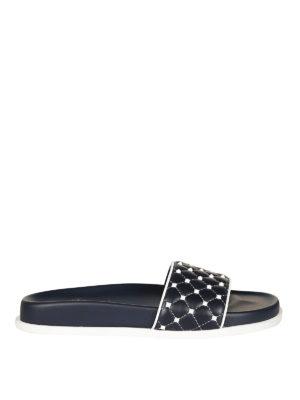 Valentino Garavani: sandals - Free Rockstud Spike slide sandals
