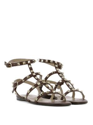 Valentino Garavani: sandals online - Rockstud leather sandals