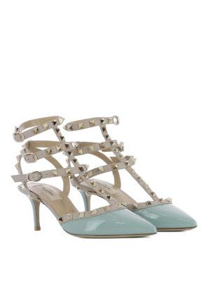 Valentino Garavani: sandals online - Rockstud patent and leather sandals