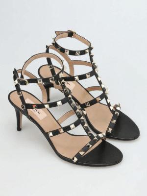 Valentino Garavani: sandals online - Rockstud T-strap sandals