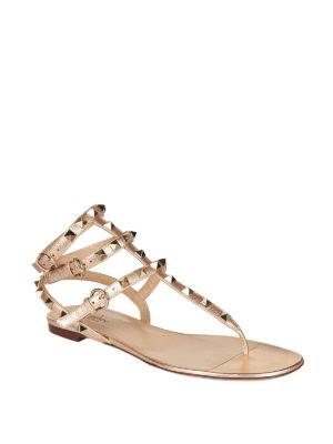 Valentino Garavani: sandals online - Rockstud thong sandals