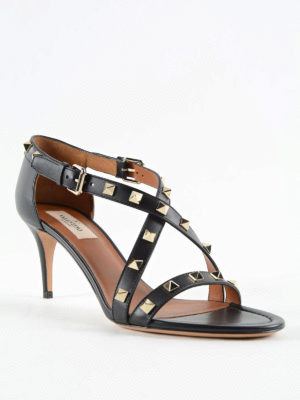 Valentino Garavani: sandals online - Studded leather sandals