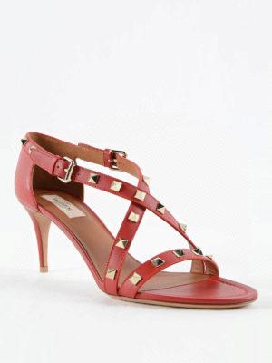 Valentino Garavani: sandals online - Studded leather sandals