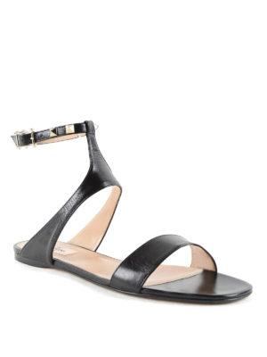 Valentino Garavani: sandals online - Studded slingback sandals