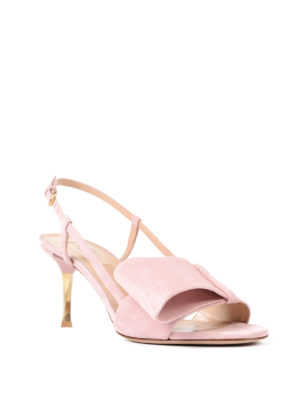 Valentino Garavani: sandals online - Suede mid sandals with bow