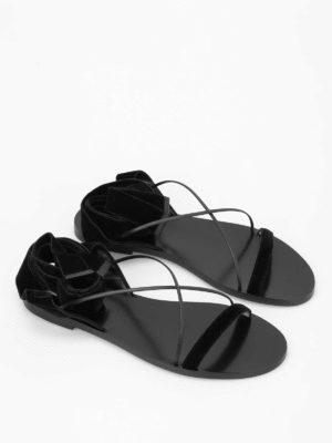 Valentino Garavani: sandals online - Velvet flat sandals