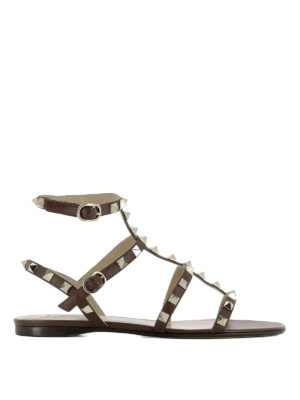 Valentino Garavani: sandals - Rockstud leather sandals