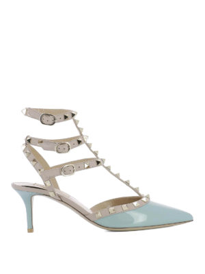 Valentino Garavani: sandals - Rockstud patent and leather sandals