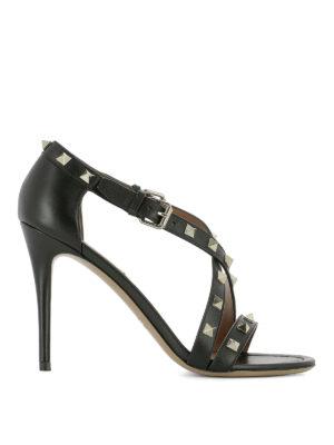 Valentino Garavani: sandals - Rockstud sandals with stiletto heel