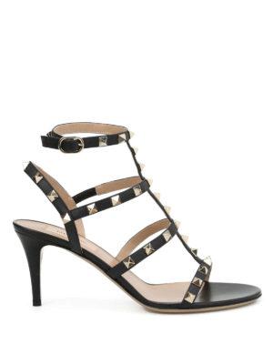 Valentino Garavani: sandals - Rockstud T-strap sandals