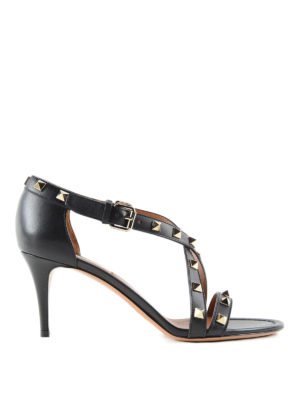 Valentino Garavani: sandals - Studded leather sandals