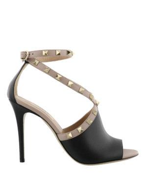 VALENTINO GARAVANI: sandali - Sandali in pelle con borchie