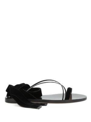 Valentino Garavani: sandals - Velvet flat sandals