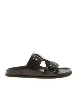 VALENTINO GARAVANI: sandals - VLTN sandals in black