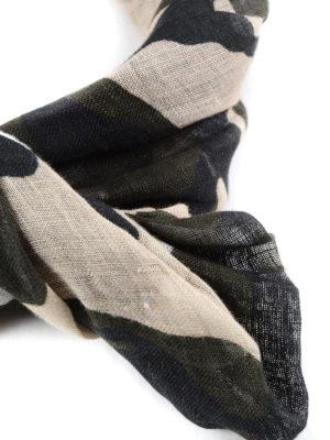 Valentino Garavani: scarves online - Camu print unfinished scarf