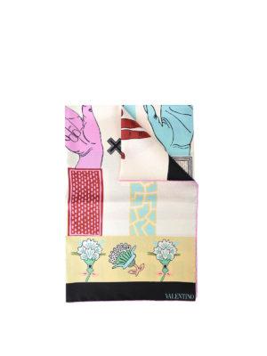 Valentino Garavani: scarves - Printed silk twill foulard