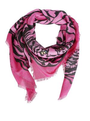 VALENTINO GARAVANI: sciarpe e foulard - Foulard con stampa Tiger Re-Edition