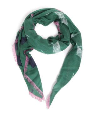 VALENTINO GARAVANI: sciarpe e foulard - Sciarpa VLTN in misto cashmere