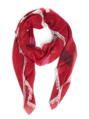 VALENTINO GARAVANI: sciarpe e foulard - Sciarpa con stampa VLTN